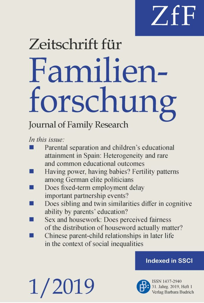 ZfF – Zeitschrift für Familienforschung / Journal of Family Research