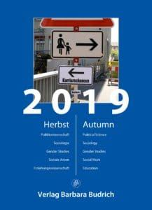 Verlag Barbara Budrich: Vorschau Herbst 2019