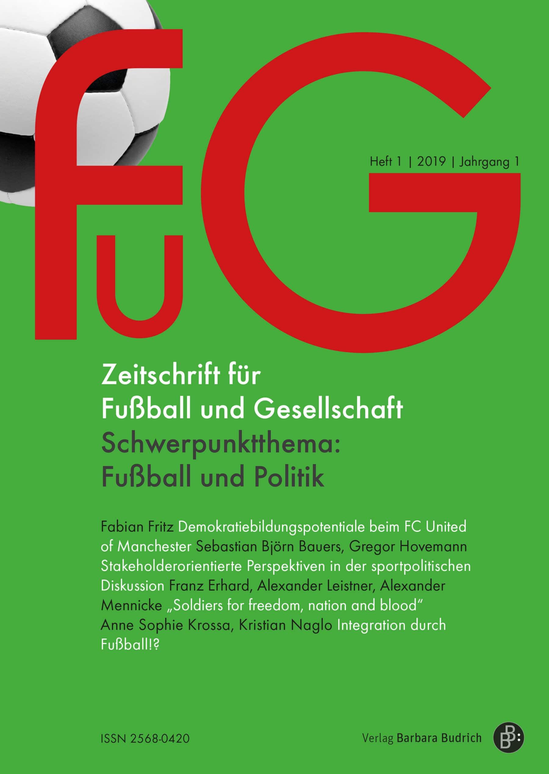 FuG – Zeitschrift für Fußball und Gesellschaft 1-2019: Fußball und Politik