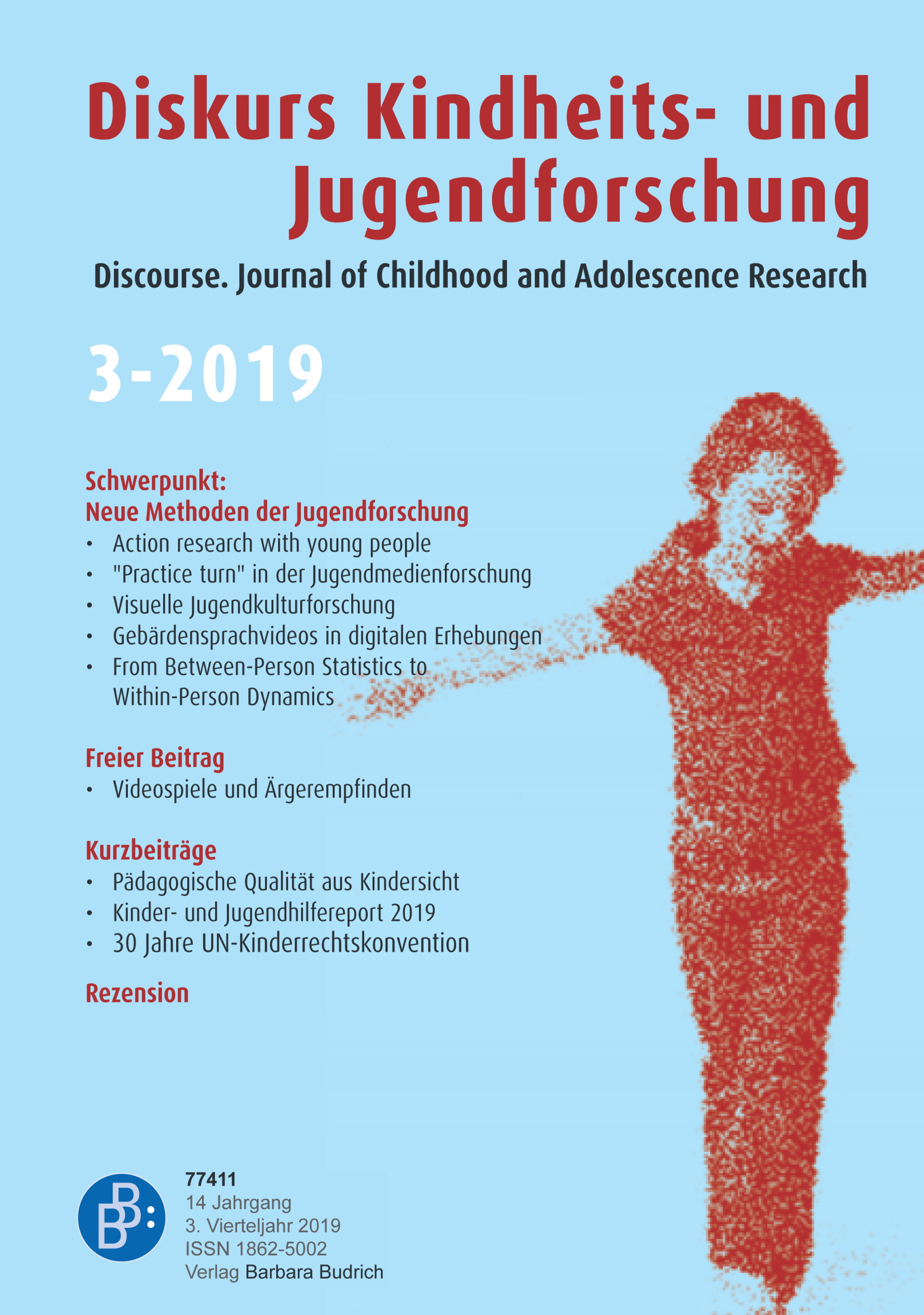 Diskurs Kindheits- und Jugendforschung / Discourse. Journal of Childhood and Adolescence Research 3-2019: Neue Methoden der Jugendforschung