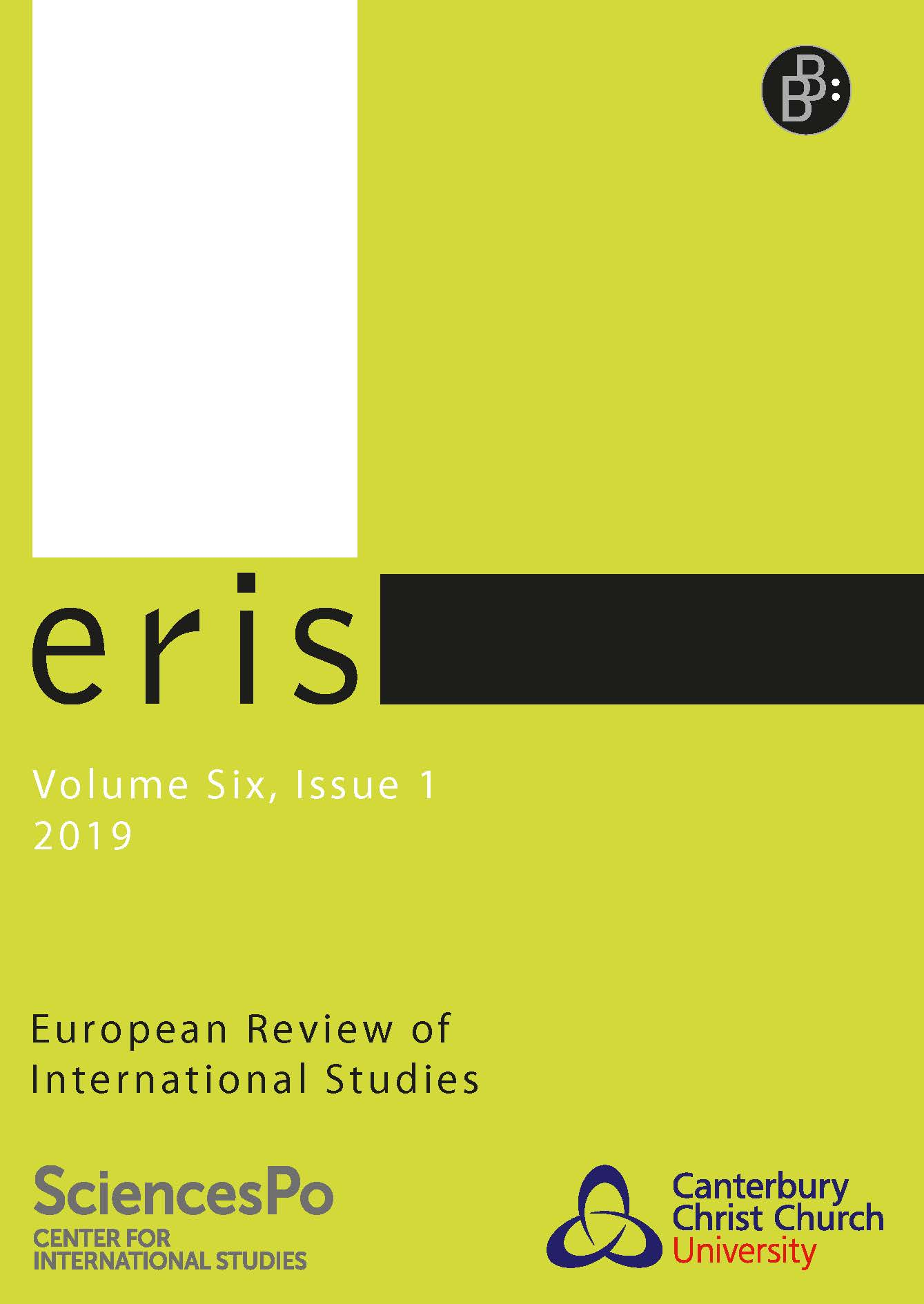 ERIS – European Review of International Studies 1-2019