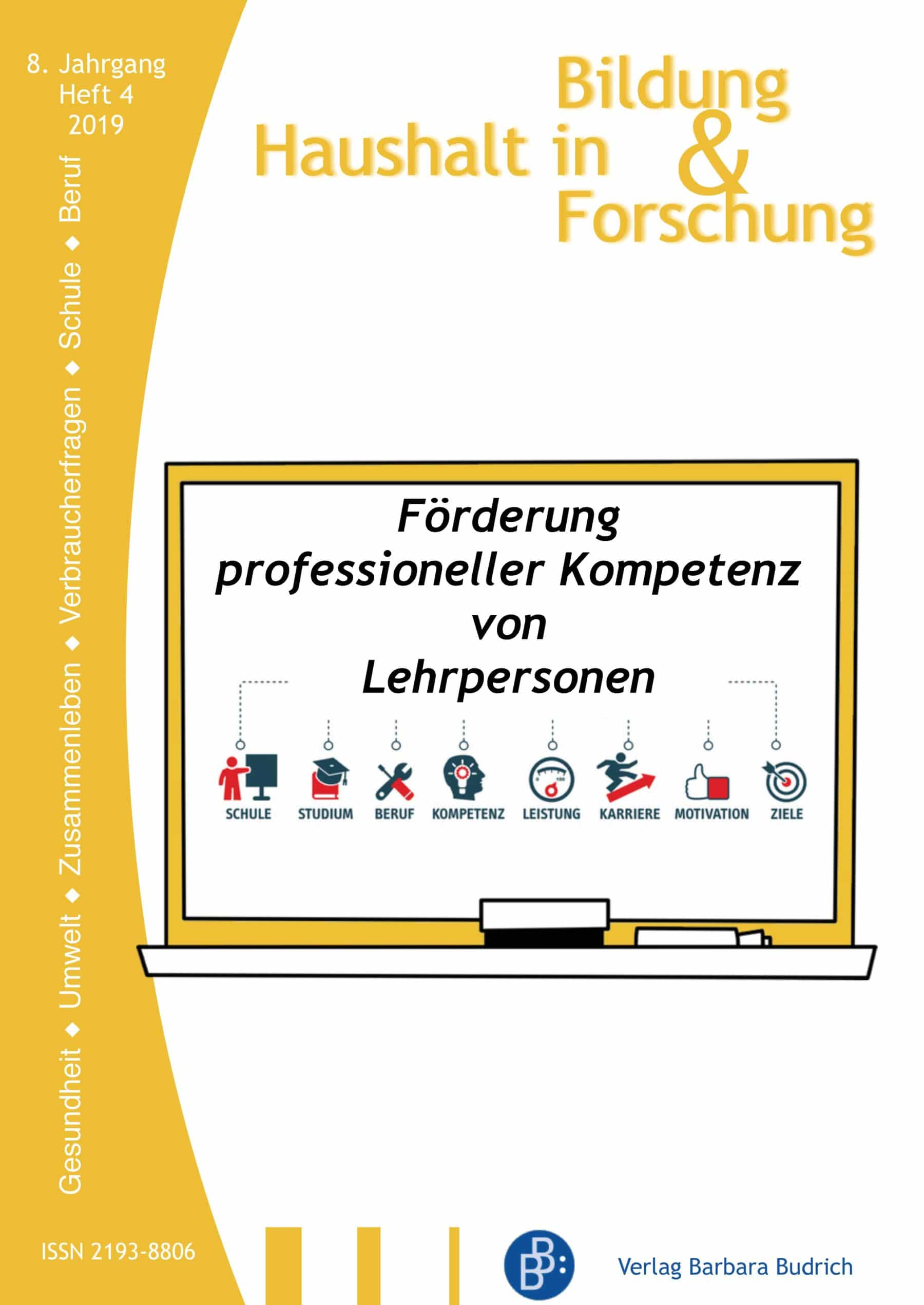 HiBiFo – Haushalt in Bildung & Forschung 4-2019: Förderung professioneller Kompetenz von Lehrpersonen