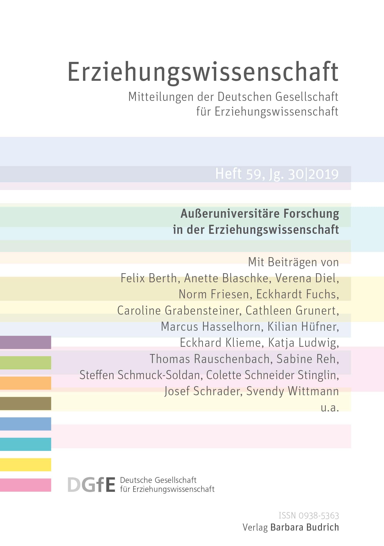 Erziehungswissenschaft 2-2019: Außeruniversitäre Forschung in der Erziehungswissenschaft