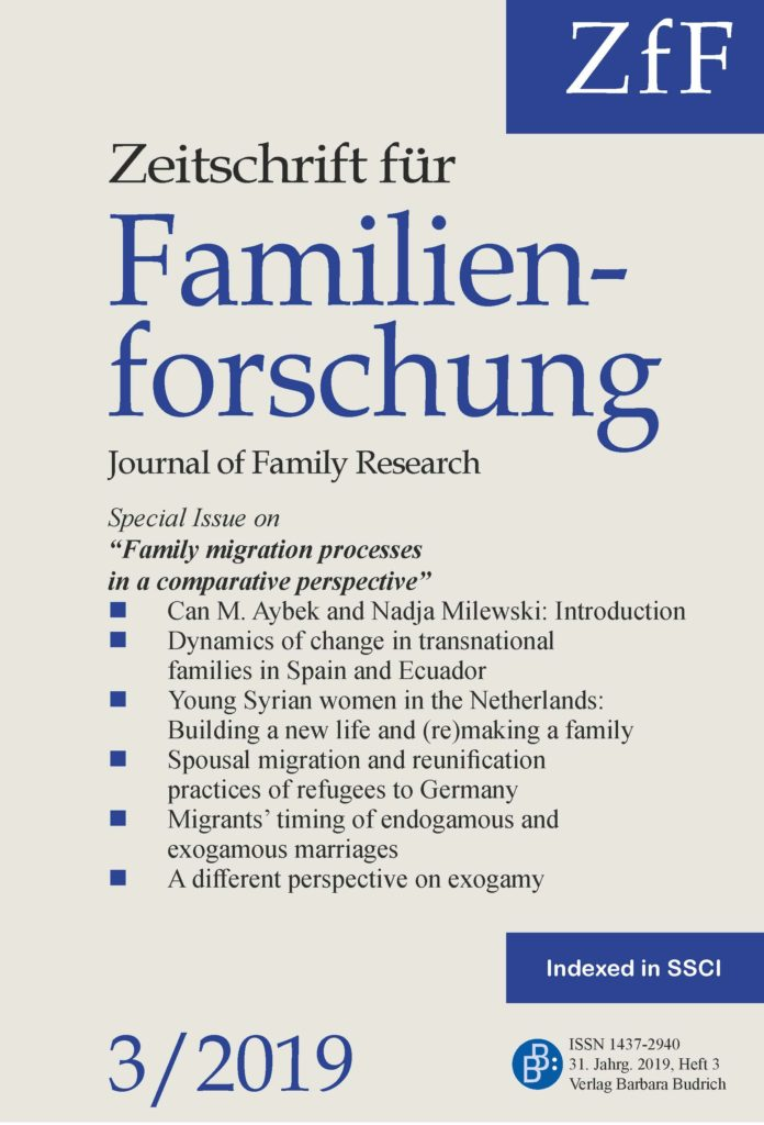 ZfF – Zeitschrift für Familienforschung / Journal of Family Research 3-2019: Family migration processes in a comparative perspective