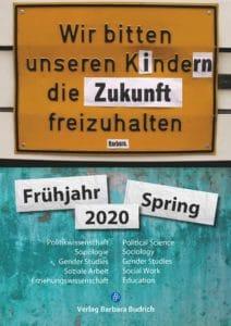 Verlag Barbara Budrich: Vorschau Frühjahr 2020