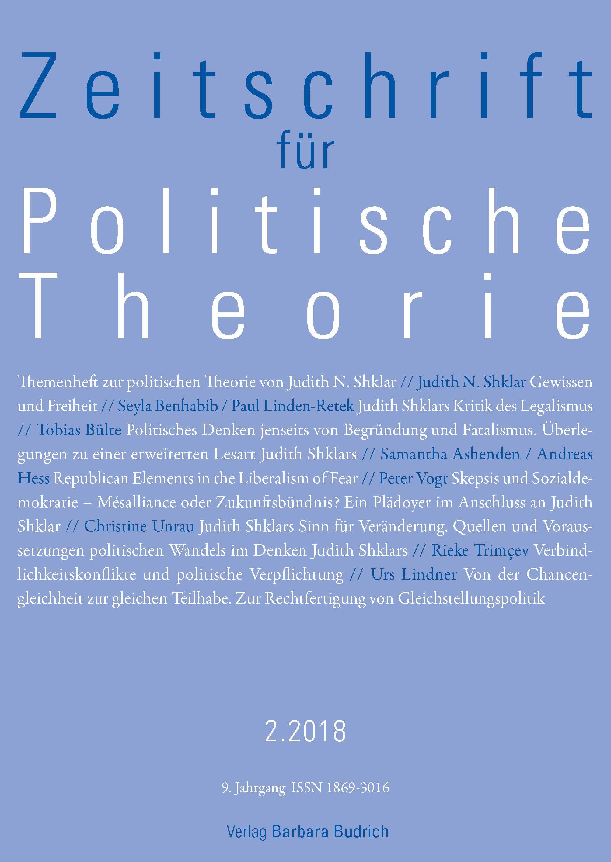 ZPTh – Zeitschrift für Politische Theorie 2-2018: