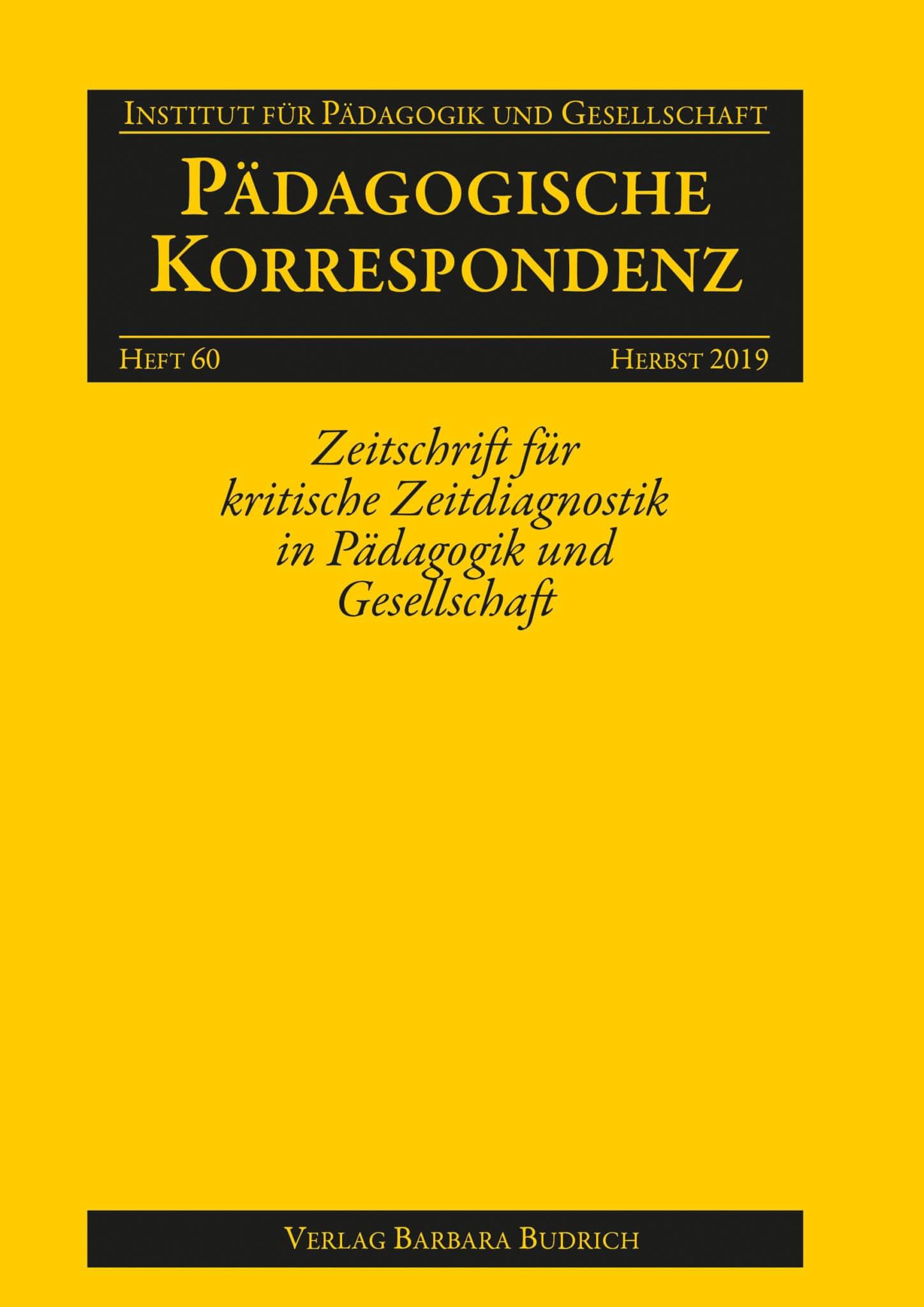 Pädagogische Korrespondenz, Heft 60, 2-2019: Freie Beiträge