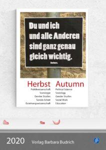 Verlag Barbara Budrich: Vorschau Herbst 2020