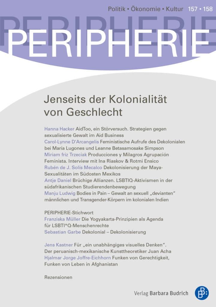 PERIPHERIE – Politik • Ökonomie • Kultur 1+2-2020 (Nr. 157-158): Jenseits der Kolonialität von Geschlecht