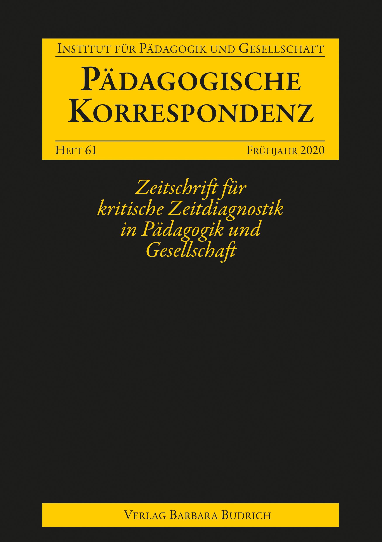 Pädagogische Korrespondenz, Heft 61, 1-2020: Freie Beiträge
