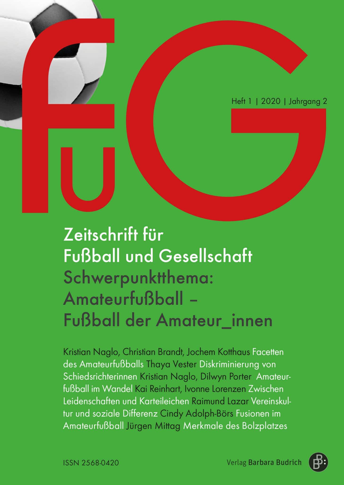 FuG – Zeitschrift für Fußball und Gesellschaft 1-2020: Amateurfußball – Fußball der Amateur_innen