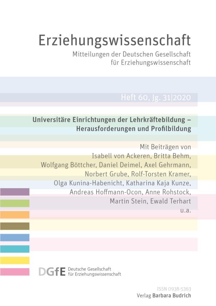 Erziehungswissenschaft Heft 60, Jg. 31|1-2020
