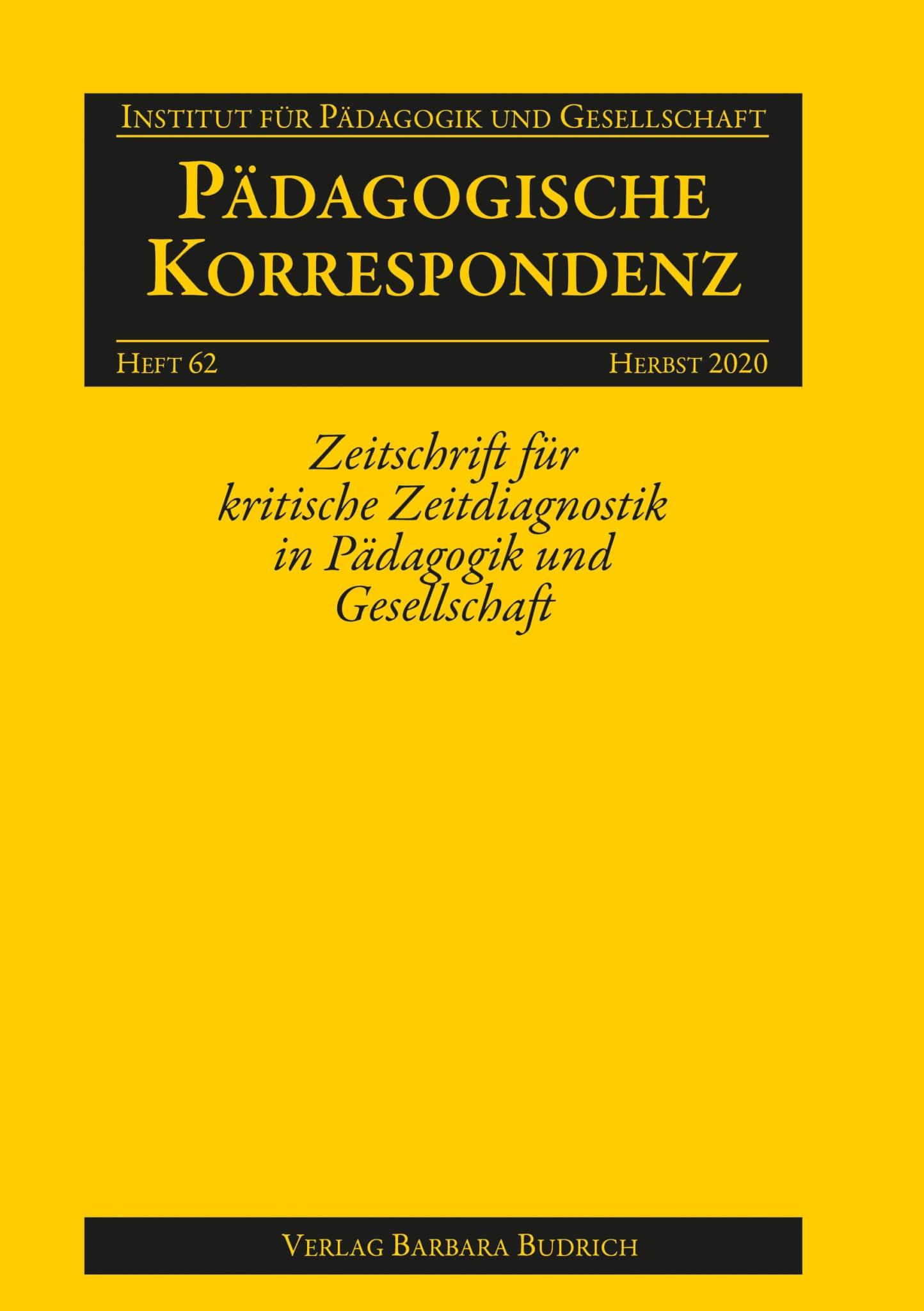 Pädagogische Korrespondenz 2-2020: Freie Beiträge