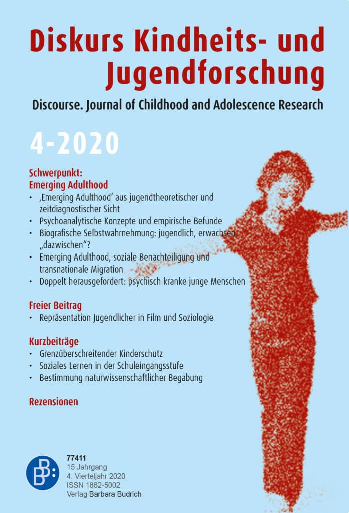Diskurs Kindheits- und Jugendforschung / Discourse. Journal of Childhood and Adolescence Research 4-2020: Emerging Adulthood