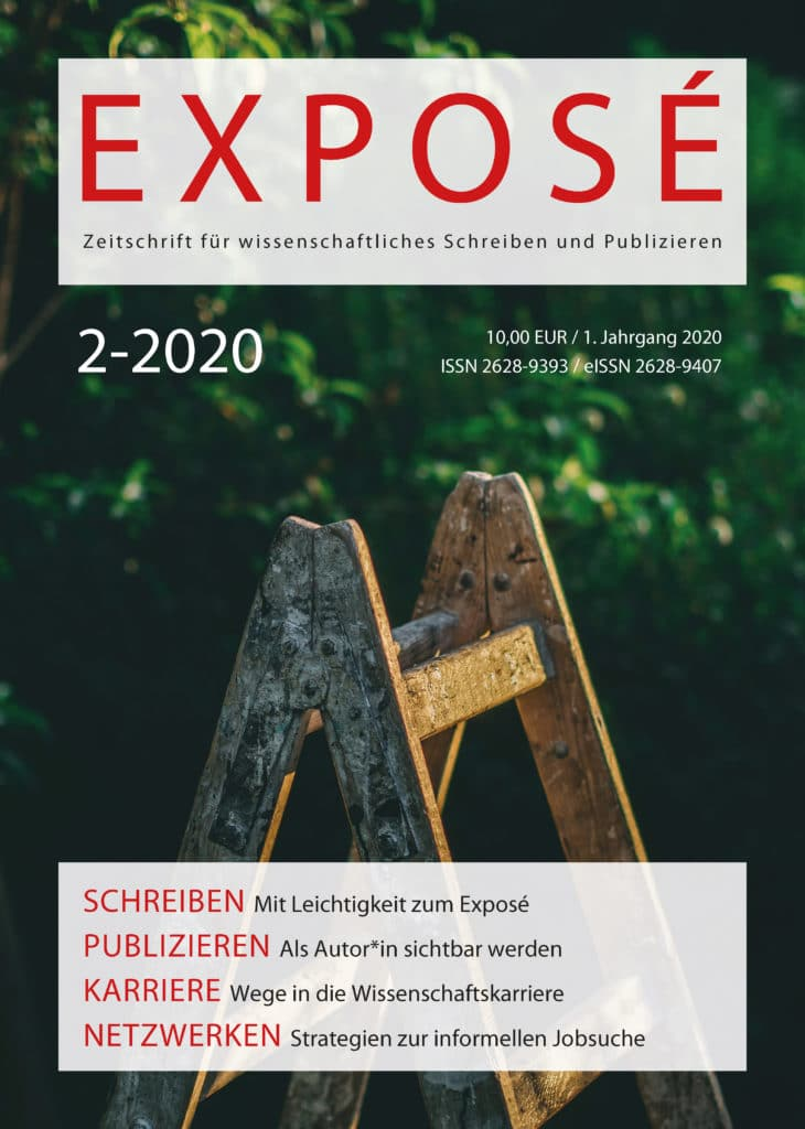 Exposé – Zeitschrift für wissenschaftliches Schreiben und Publizieren 2-2020: Freie Beiträge