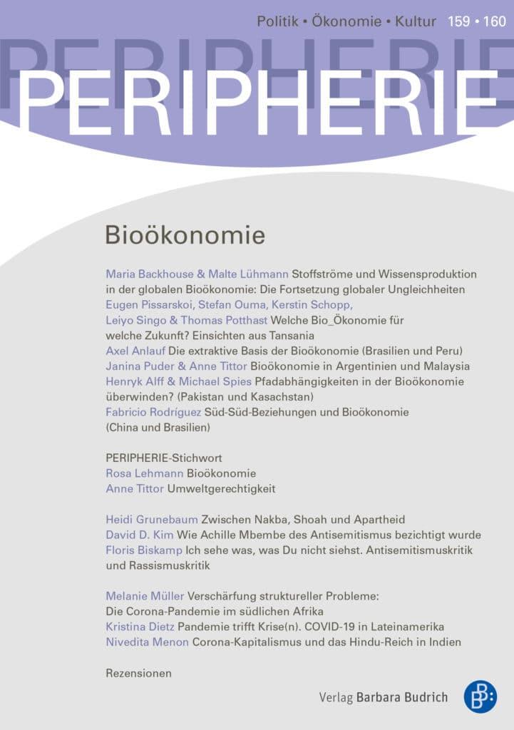 PERIPHERIE – Politik • Ökonomie • Kultur 159-160 (3+4-2020): Bioökonomie