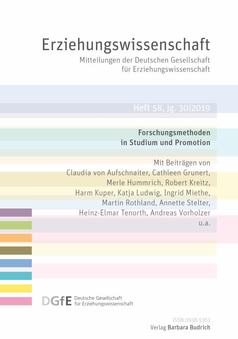 Erziehungswissenschaft 1-2019 (Heft 58) | Forschungsmethoden in Studium und Promotion
