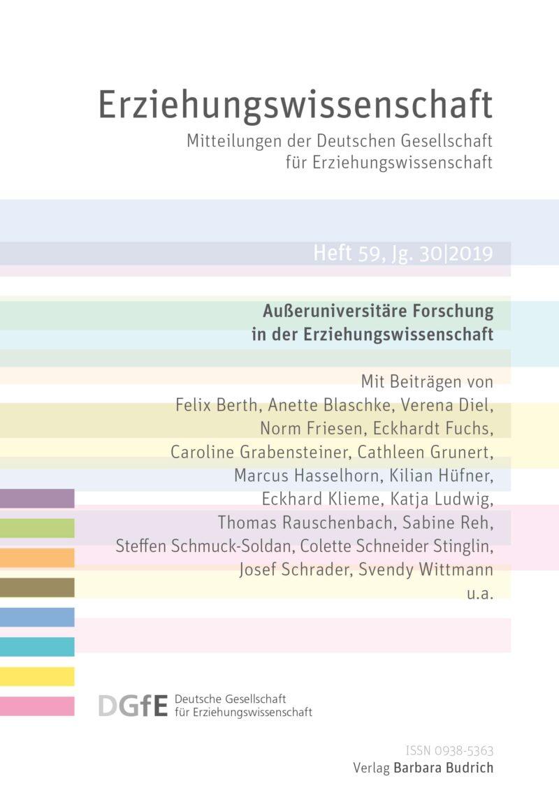 Erziehungswissenschaft 2-2019 (Heft 59) | Außeruniversitäre Forschung in der Erziehungswissenschaft