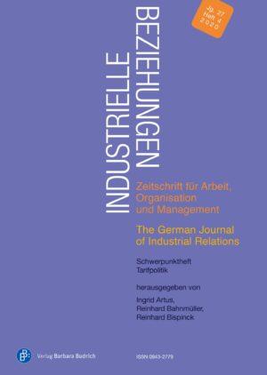 Industrielle Beziehungen 4-2020 | Tarifpolitik