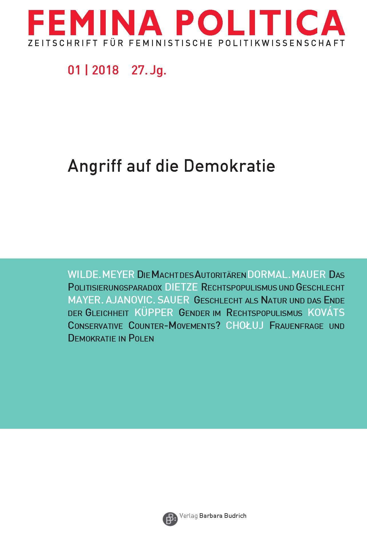 Femina Politica 1-2018 | Angriff auf die Demokratie
