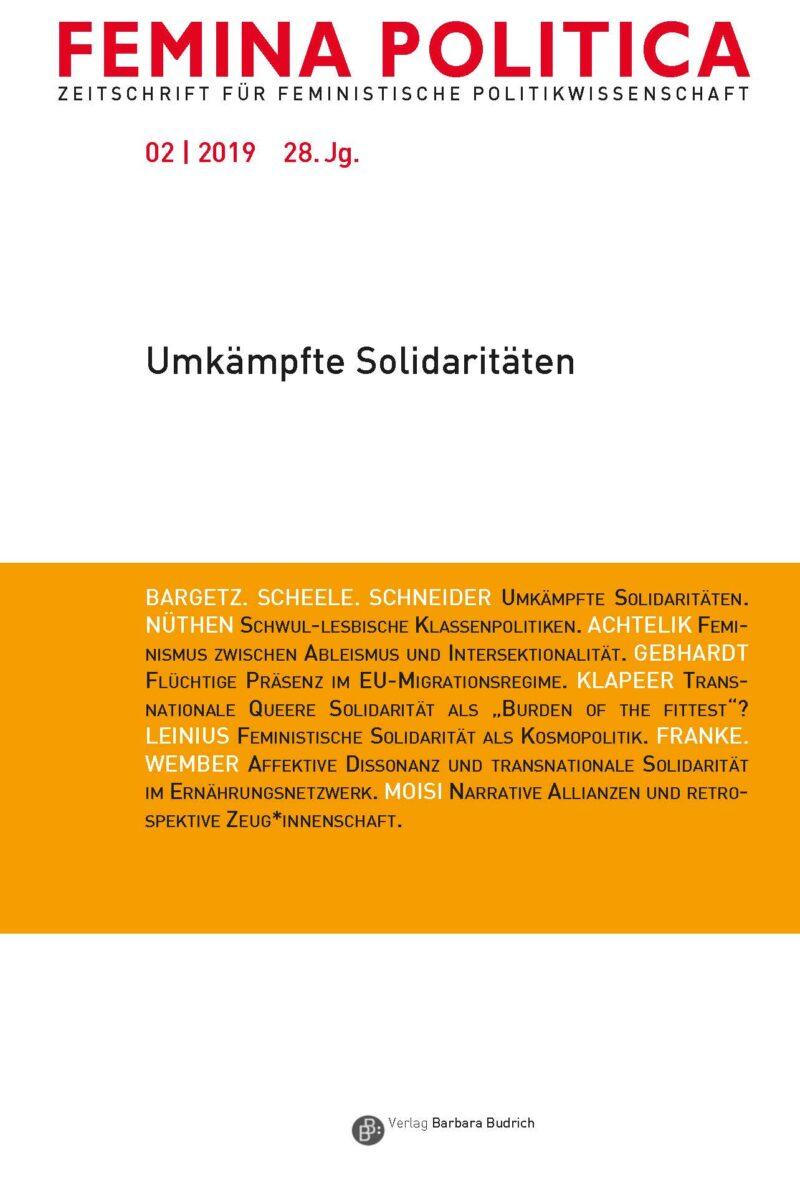 Femina Politica 2-2019   Umkämpfte Solidaritäten