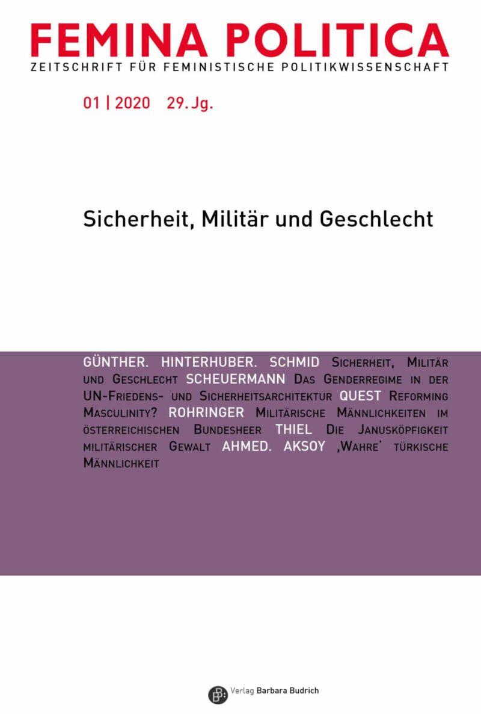 Femina Politica 1-2020 | Sicherheit, Militär und Geschlecht