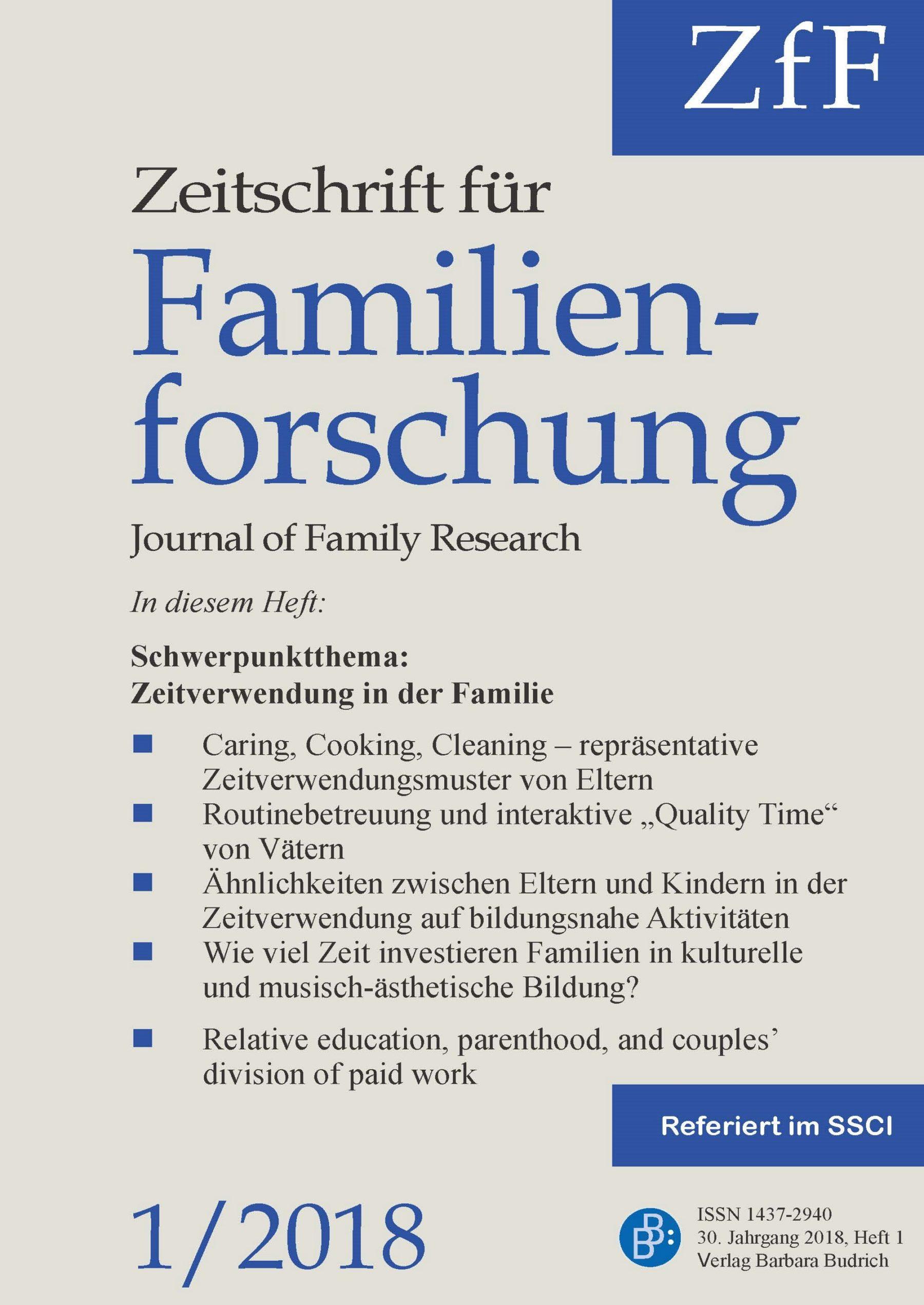 ZfF 1-2018 | Zeitverwendung in der Familie