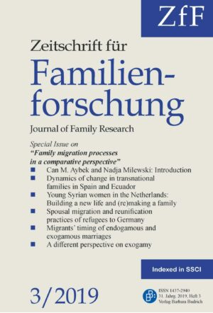 ZfF 3-2019 | Family migration processes in a comparative perspective