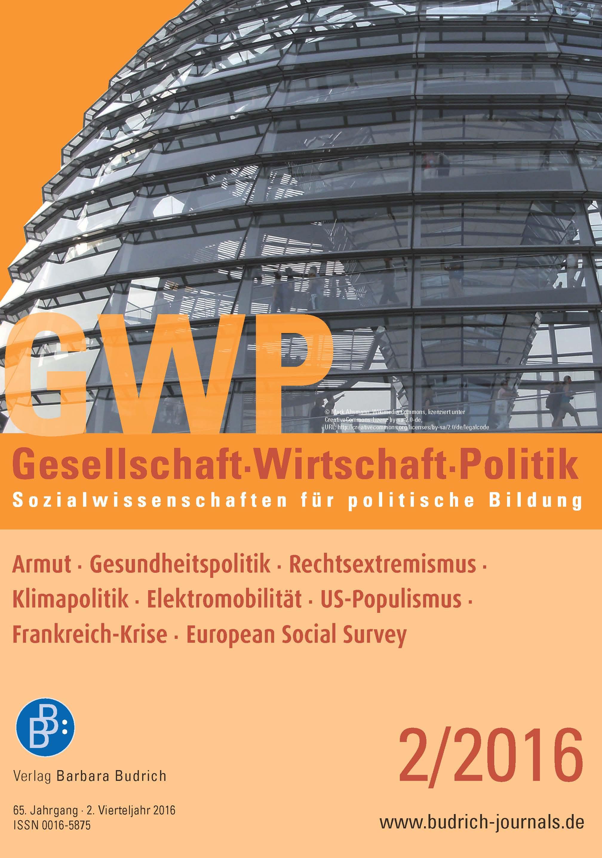 Heft 2-2016 | GWP - Gesellschaft. Wirtschaft. Politik