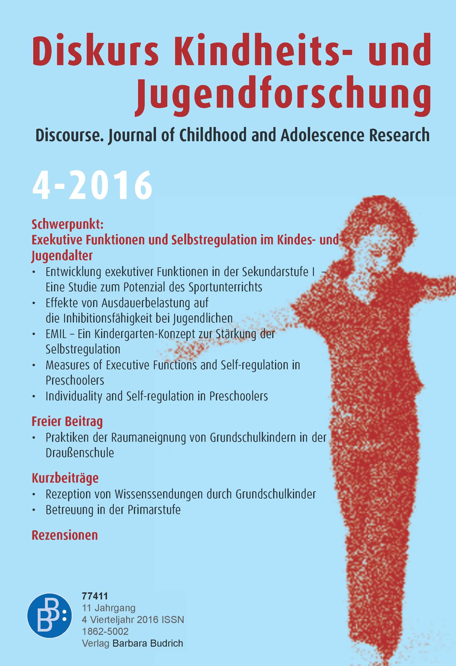 Diskurs 4-2016 | Exekutive Funktionen und Selbstregulation im Kindes- und Jugendalter