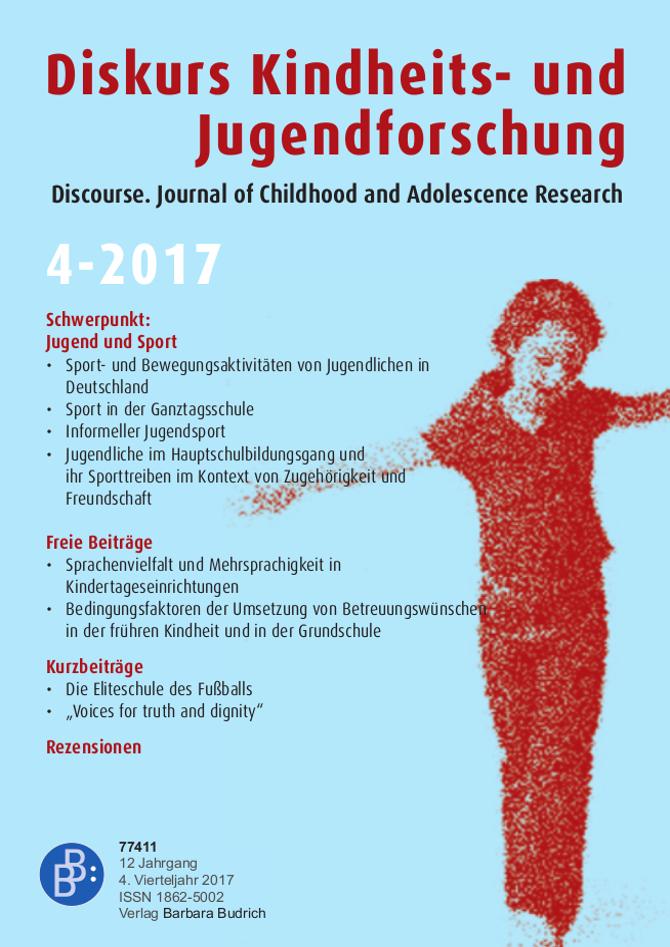 Diskurs 4-2017 | Jugend und Sport