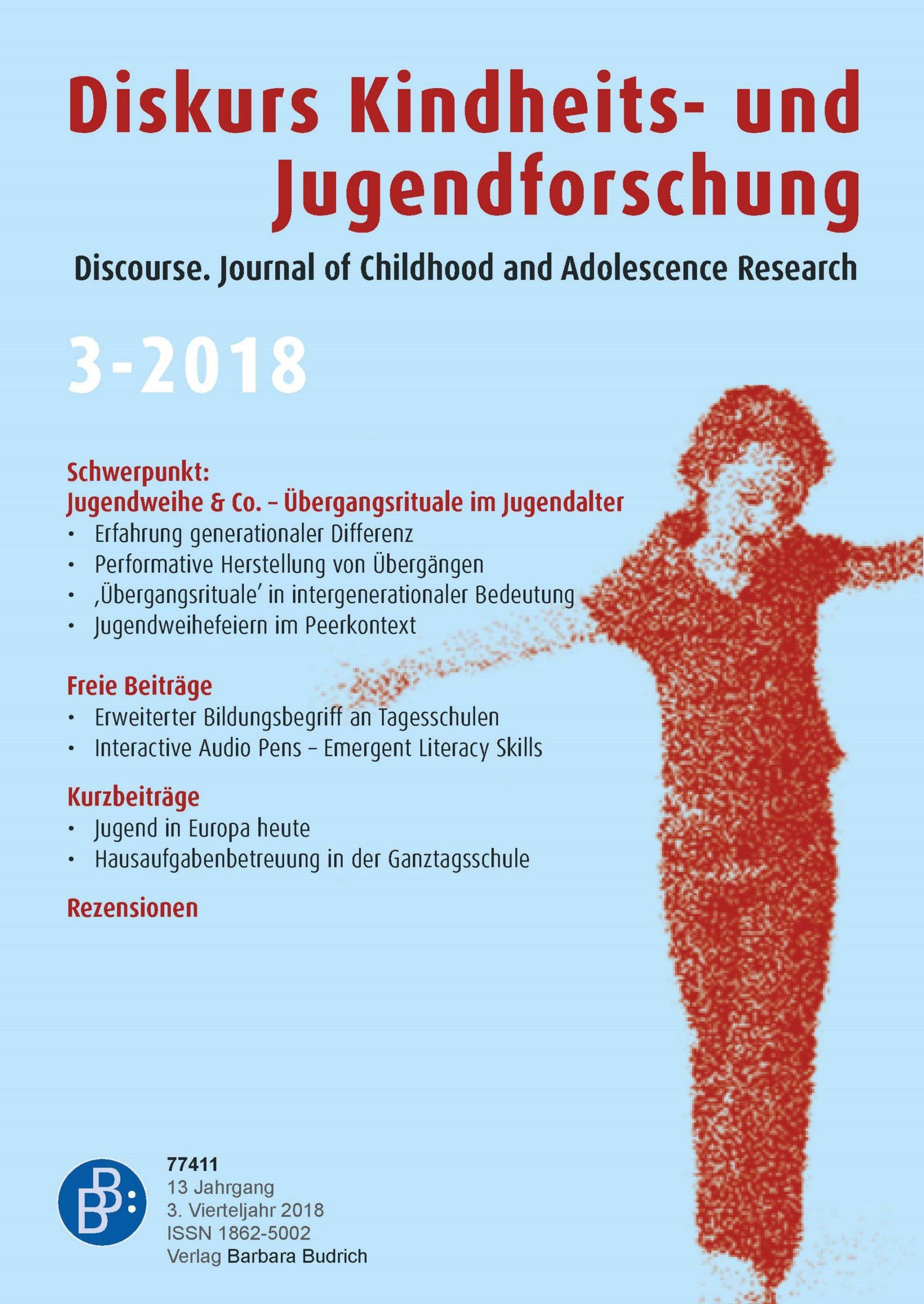 Diskurs 3-2018 | Jugendweihe & Co. – Übergangsrituale im Jugendalter