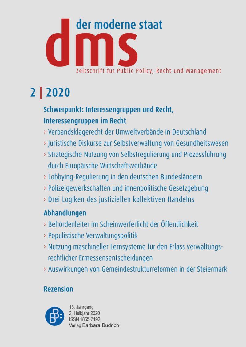 dms 2-2020 | Interessengruppen und Recht, Interessengruppen im Recht