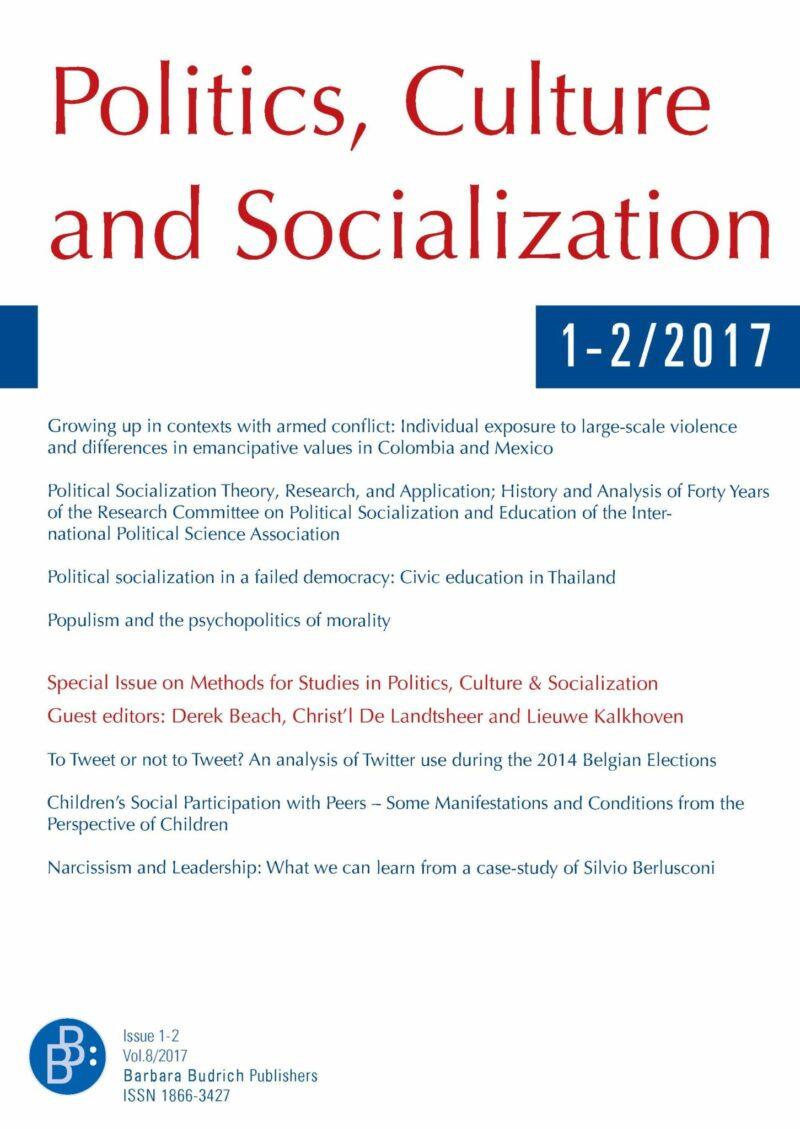 PCS 1+2-2017   Methods for Studies in Politics, Culture & Socialization (II)