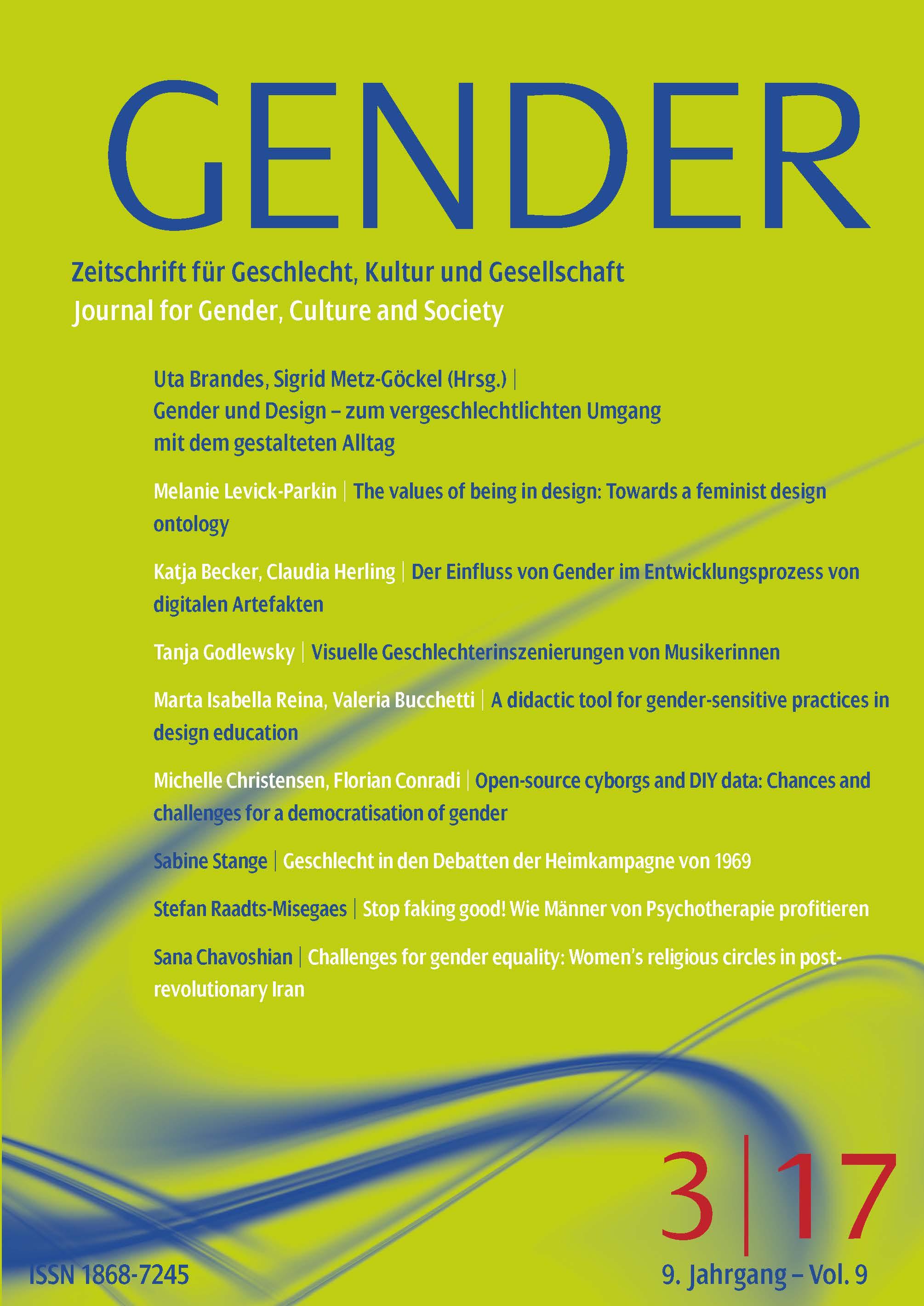 GENDER 3-2017 | Gender und Design – zum vergeschlechtlichten Umgang mit dem gestalteten Alltag