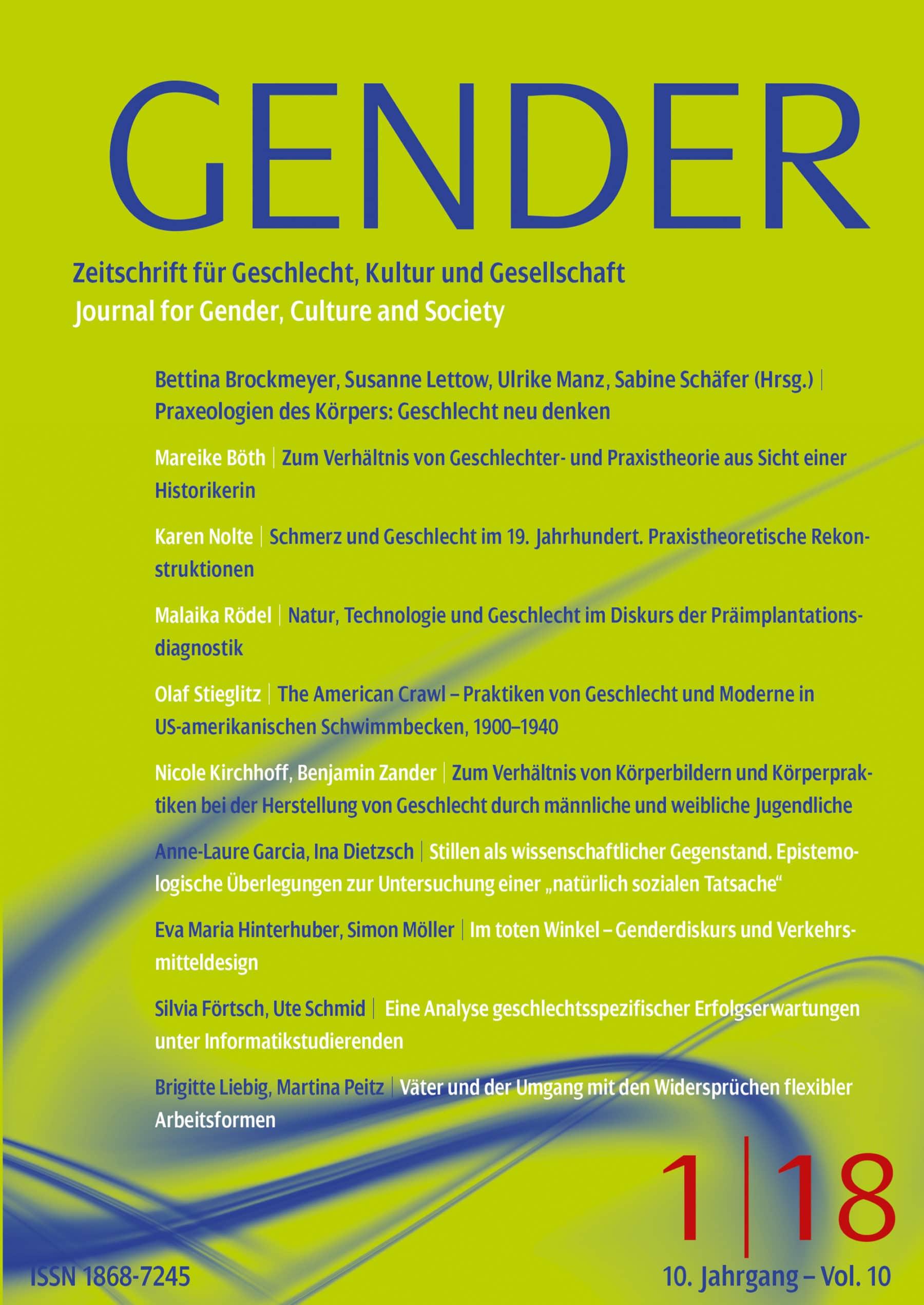 GENDER 1-2018 | Praxeologien des Körpers: Geschlecht neu denken