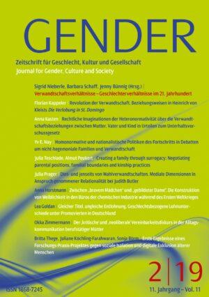 GENDER 2-2019 | Verwandtschaftsverhältnisse – Geschlechterverhältnisse im 21. Jahrhundert