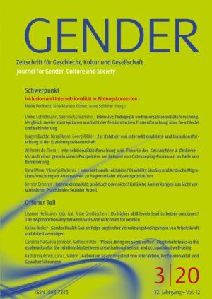 GENDER 3-2020 | Inklusion und Intersektionalität in institutionellen Bildungskontexten