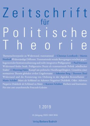 ZPTh 1-2019 | Themenschwerpunkt Widerstand, transnational