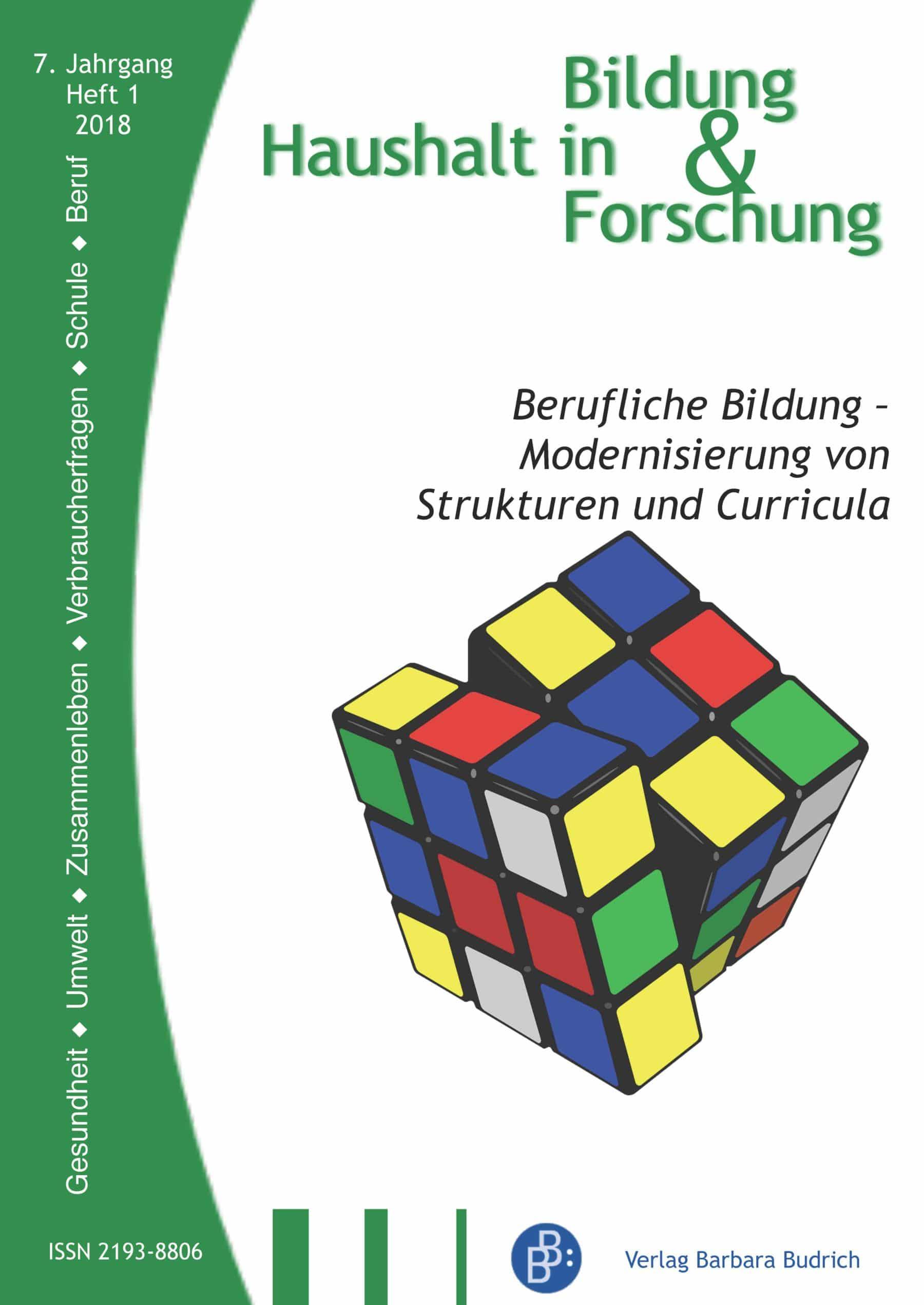 HiBiFo 1-2018 | Berufliche Bildung – Modernisierung von Strukturen und Curricula