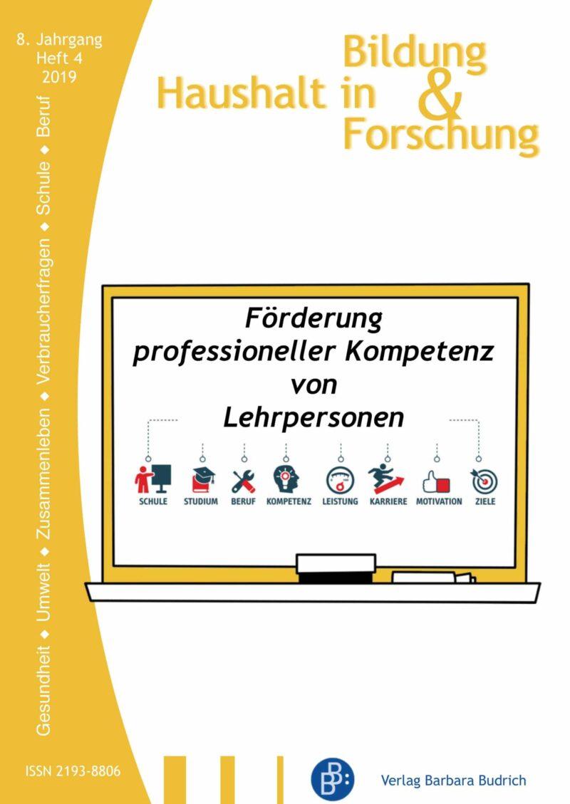 HiBiFo 4-2019 | Förderung professioneller Kompetenz von Lehrpersonen