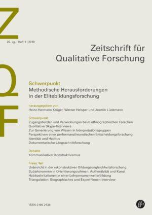 ZQF 1-2019 | Methodische Herausforderungen in der Elitebildungsforschung