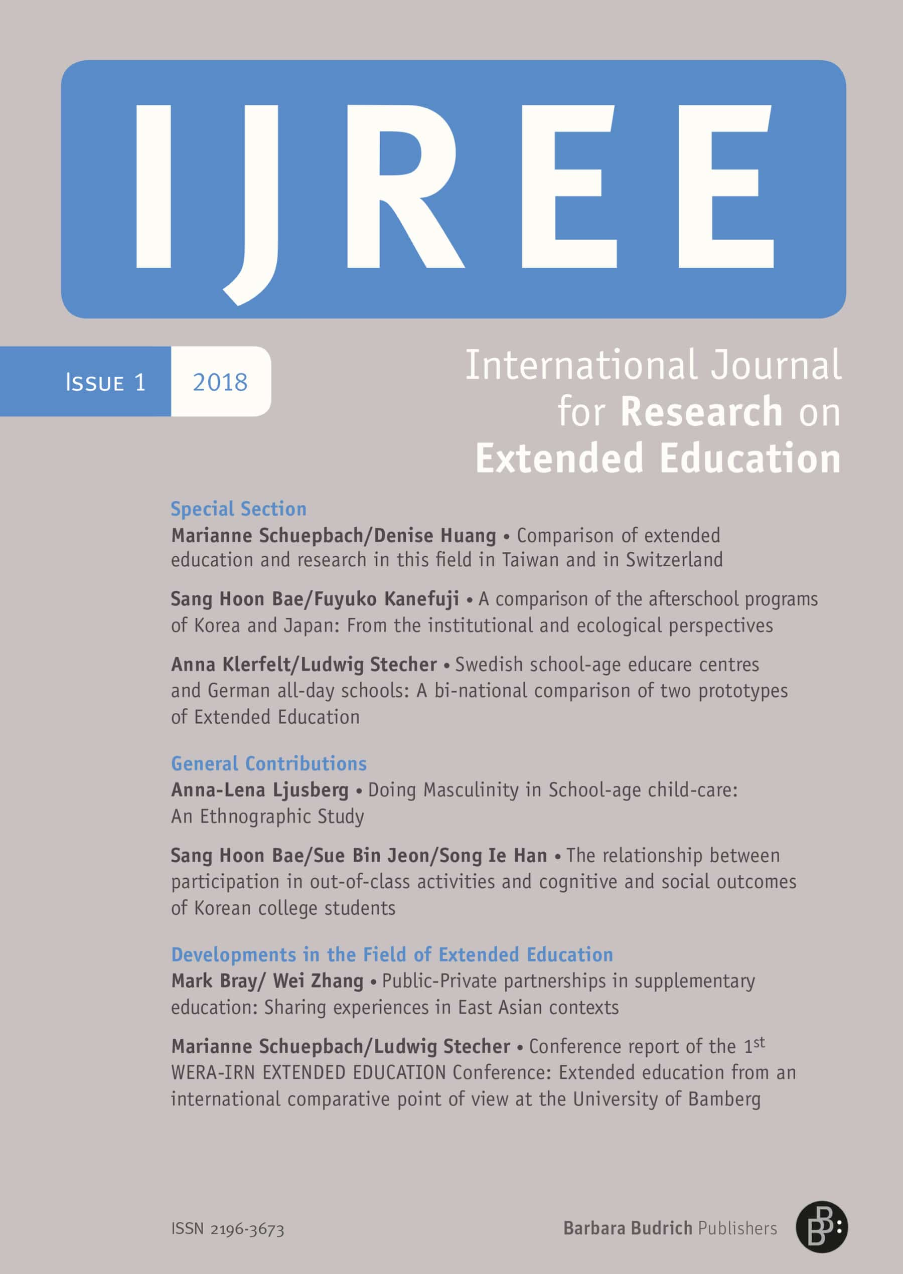 IJREE 1-2018 | Extended Education from an International Comparative Point of View