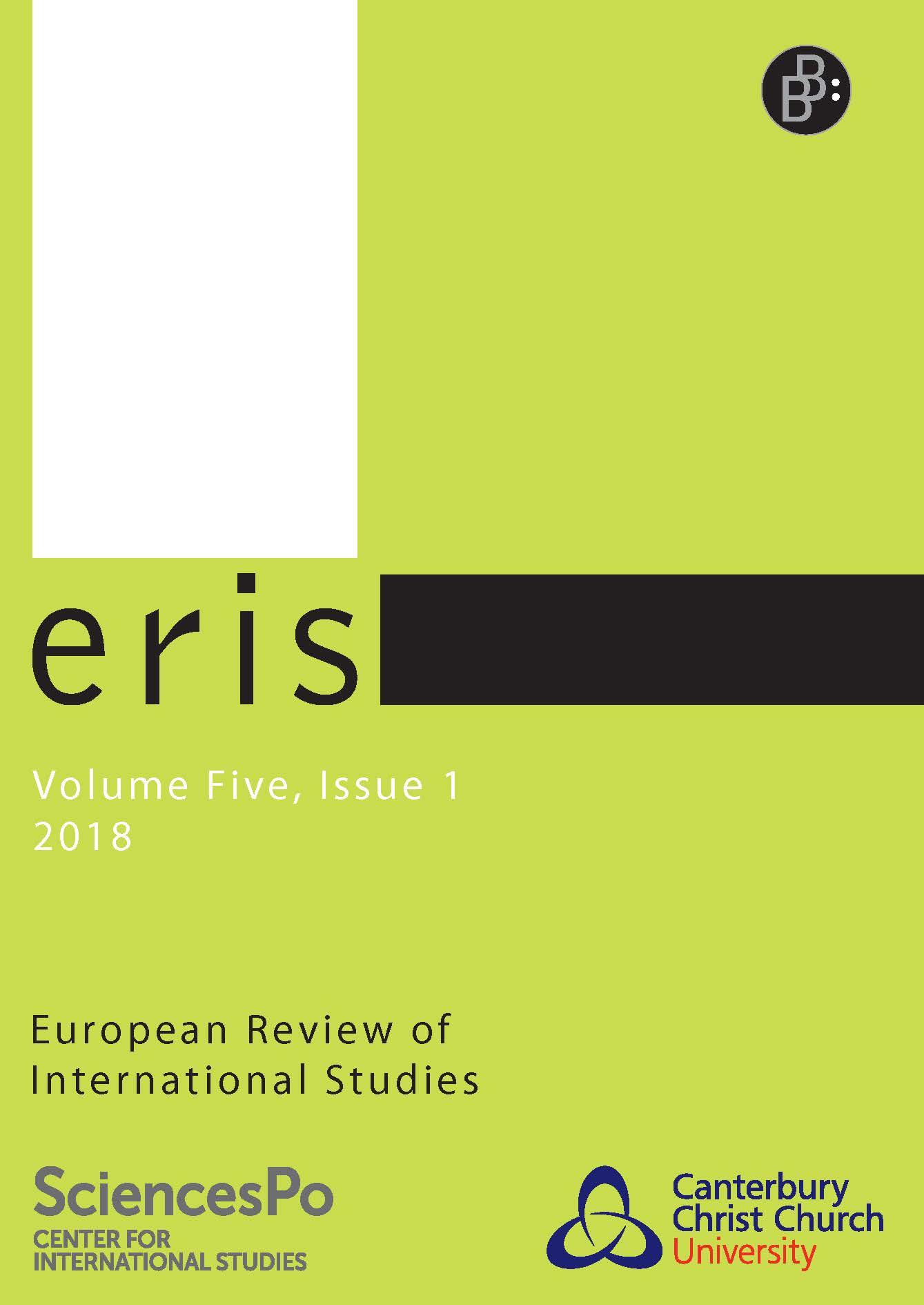 Heft 1-2018   ERIS - European Review of International Studies