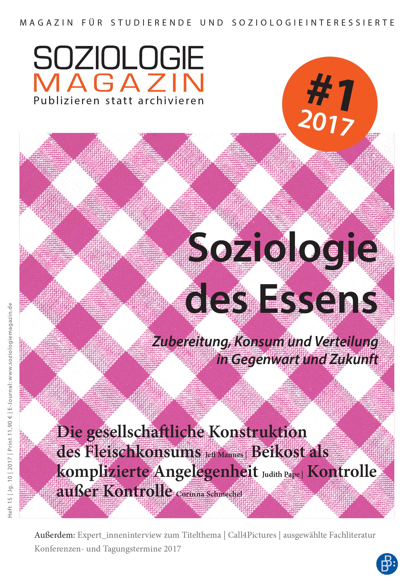 Soziologiemagazin 1-2017 | Soziologie des Essens