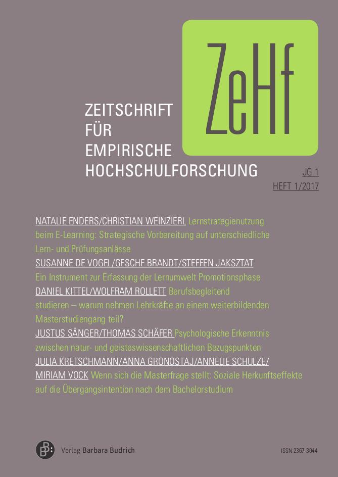 ZeHf 1-2017 | Freie Beiträge