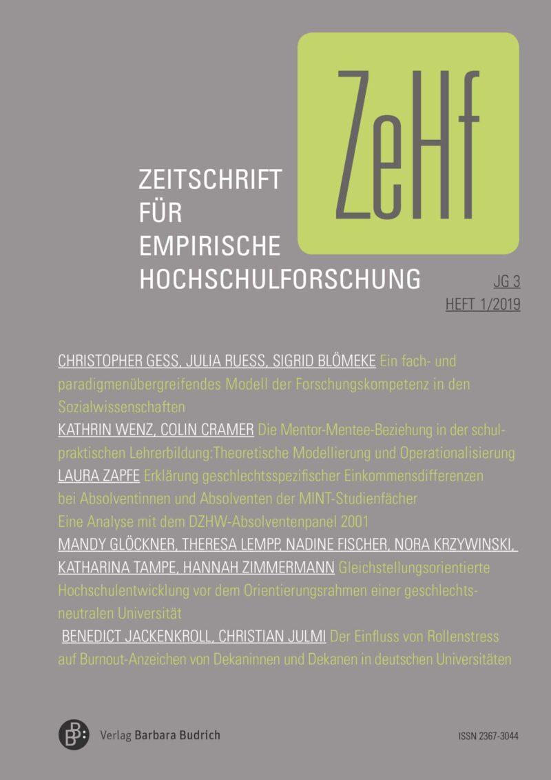 ZeHf 1-2019 | Freie Beiträge