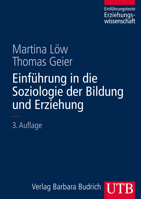 Einführung in die Soziologie der Bildung und Erziehung