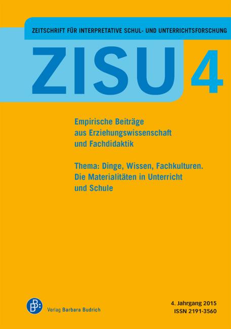 ZISU 4 | Zeitschrift für interpretative Schul- und Unterrichtsforschung