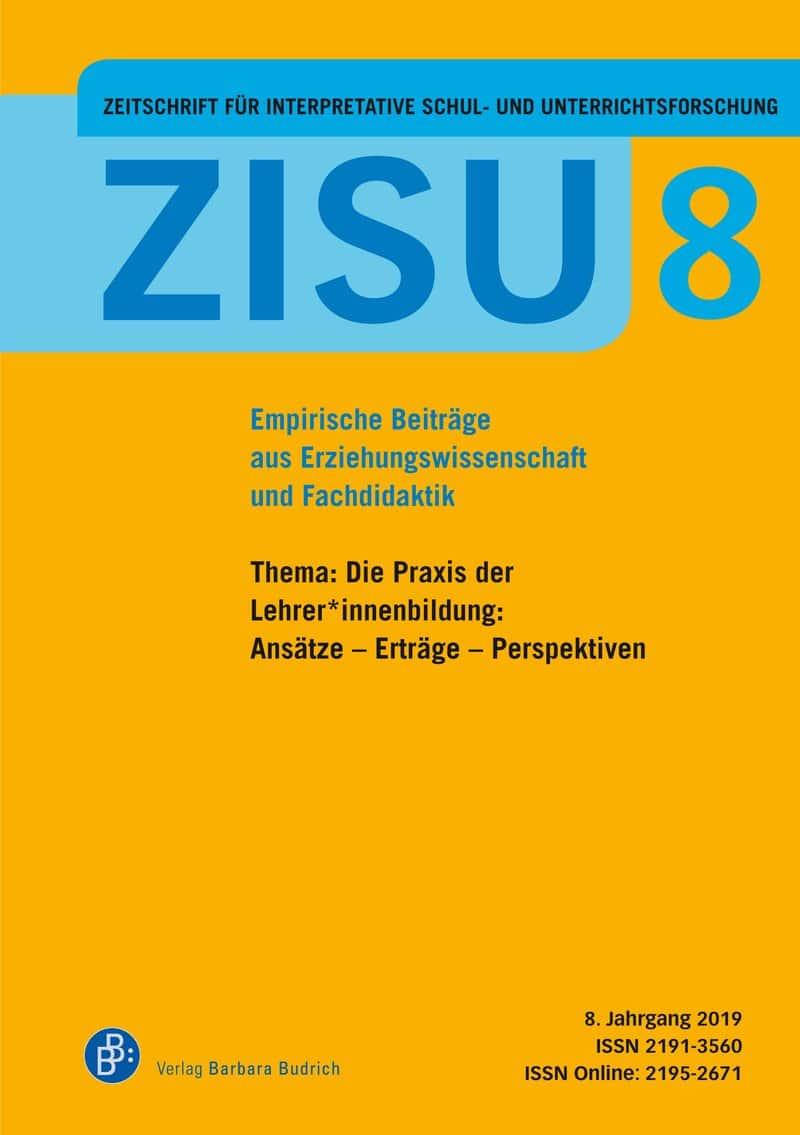 ZISU 8 | Zeitschrift für interpretative Schul- und Unterrichtsforschung